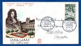 Enveloppe Premier Jour  / N 462 / 4 ème 100 Aire Du Lycée Louis Le Grand / Paris / 18 Mai 1963 - FDC