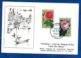 Carte   / Orélans - Cité De Jeanne D'Arc - Ville Des Roses / 8-9-62 - Cartoline Maximum