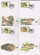 World Wide Fund For Nature 1997 Fiji Bats,Set 4 Official First Day Covers - FDC