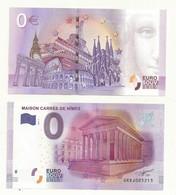 BILLET TOURISTIQUE ZERO EURO  NIMES LA MAISON CARREE - EURO