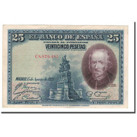 Billet, Espagne, 25 Pesetas, 1928, 1928-08-15, KM:74b, SUP - [ 1] …-1931 : First Banknotes (Banco De España)