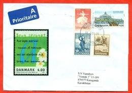 Danmark 2001.The Envelope Passed The Mail.Airmail. - 1921-... République