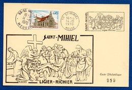 Carte   / Saint Mihiel / Ligier Richier / 14-11-70 - Cartes-Maximum