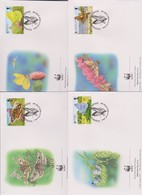 World Wide Fund For Nature 1997 Guernsey Butterflies ,Set 4 Official First Day Covers - FDC