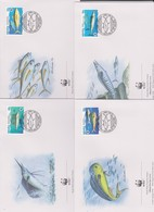 World Wide Fund For Nature 1997 Nauru Fishes ,Set 4 Official First Day Covers - FDC