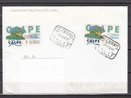 Spanien - Automaten-Marken:  CALPE - Beleg Einschreiben; Used - 1931-Aujourd'hui: II. République - ....Juan Carlos I