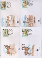 World Wide Fund For Nature 1998 Afghanistan Ovis Vignei,Set 4 Official First Day Covers - FDC