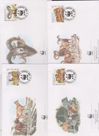 World Wide Fund For Nature 1998 Cyprus Mouflon,Set 4 Official First Day Covers - FDC
