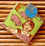Joli Pin's Cochon, émail Grand Feu, TBQ, Pins Pin. - Animals
