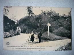 JURA 39 Environs D'Orgelet Au Col De La Malapièrre, Une Jeune Fille Facteur échange La Correspodance (1916) Tournier PHO - Orgelet