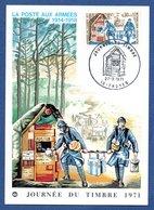 Carte   / Journée Du Timbre / La Poste Aux Armées / Troyes / 27 Mars 1971 - Cartoline Maximum