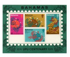 Bahamas - 1974 - Foglietto U.P.U. (Unione Postale Universale) - 4 Valori - Nuovo - Vedi Foto - (FDC12331) - Bahamas (1973-...)