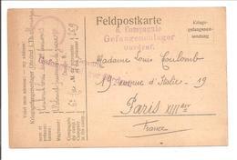 WO1 Kriegsgefangene.POW.Ohrdruf I.Th>Paris France - 1. Weltkrieg