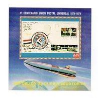 Guinea Equatoriale - 1974 - Foglietto U.P.U. (Unione Postale Universale) - 1 Valore - Nuovo - Vedi Foto - (FDC12332) - Guinea Equatoriale