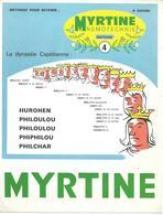 Mnemotechnie N°4 (publicité Médicale Pour Myrtine Béral) - La Dynastie Capétienne - Publicidad