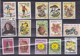 BURKINA FASSO : Y&T : Lot De 30 Timbres Oblitérés - Burkina Faso (1984-...)