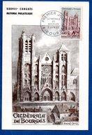 Carte   / Cathédrale De Bourges / 5 Juin 1965 - Cartes-Maximum