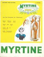 Mnemotechnie N°6 (publicité Médicale Pour Myrtine Béral) - Les îles Françaises De L'Atlantique - Publicidad