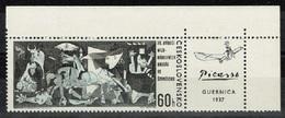 Tchécoslovaquie - 1966 - Y&T N° 1500** - Guernica - Coin De Feuille - Czechoslovakia