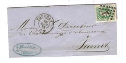 PR6021/ TP 30 S/LAC C.Tournay 28/8/1872 LOS 363 N.Delannoy C.Publicitaire V.Jumet C.d'arrivée - Postmarks - Points