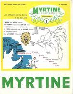 Mnemotechnie N°1 (publicité Médicale Pour Myrtine Béral) - Les Affluents De La Seine Et De La Loire - Publicidad