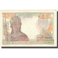 Billet, FRENCH INDO-CHINA, 5 Piastres, Undated (1946), KM:55d, SPL - Indochine