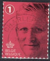 Belgique 2015 Oblitéré Rond Used Roi Philippe Rouge Sur Fragment - Belgique