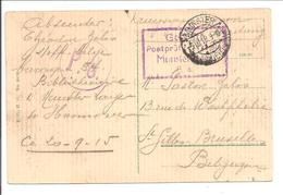 WO1 Kriegsgefangene.POW.Münster>St.Gilles Bruxelles - 1. Weltkrieg