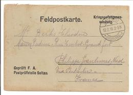 WO1 Kriegsgefangene.POW.Soltau>Gravelines France.Paket Empfangen - 1. Weltkrieg