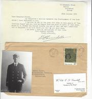 EDWARD D. CRUNDALL (1896 - 1980) LS + PHOTO AS AVIATION ANGLAISE RAF AUTOGRAPHE ORIGINAL AUTOGRAPH /FREE SHIP. R - Autographes