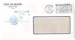 COTE D'OR - Dépt N° 21 = BEAUNE 1971 = FRANCHISE De MAIRIE + FLAMME SECAP Illustrée ' VINS / HOSPICES / MUSEES ' - Postmark Collection (Covers)