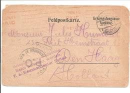 WO1 Kriegsgefangene.POW.Soltau>LONDON !>Holland. Mandat Reçu/Anweisung Bekommen - 1. Weltkrieg