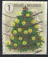 Belgique 2017 Oblitéré Used Sapin De Noël Décoré Et Illuminé Sur Fragment - België
