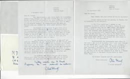 OLIVER STEWART (1896 - 1976) 2 LS AS AVIATION ANGLAISE RAF AUTOGRAPHE ORIGINAL AUTOGRAPH /FREE SHIP. R - Autographes