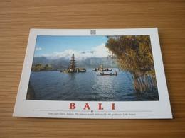 Pura Ulun Danu Goddess Of Lake Bratan Indonesia Bali Postcard Carte Postale - Cartes Postales