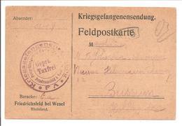 WO1 Kriegsgefangene.POW.Friedrichsfeld Bei Wesel>Bussum Holland - 1. Weltkrieg
