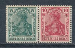 Deutsches Reich Zusammendruck W 7 * Ungebraucht Mi. 22,- - Zusammendrucke
