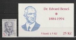 MiNr. 38 Tschechische Republik:  110. Geburtstag Von Edvard Bene∏. - Tschechische Republik