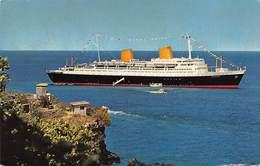 """D8622 """"TRANSATLANTICO MS EUROPA-VARATA 1952-COMPAGNIA NORDDEUTSCHER LLOY""""   CART NON SPED - Altri"""