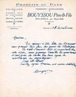 19 MALANGLE CORREZE COURRIER 1945 Primeurs Noix Chataignes BOUYSSOU   * A51 Par CHANAC Les Mines  TULLE - Frankreich