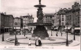 51 Chalons Sur Marne Fontaine  Place De La République - Châlons-sur-Marne