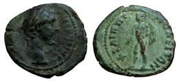 [H] +++ AE20 -- Antoninus Pius --  PHILIPPOPOLIS In Thracia - Ares +++ - Römische Münzen