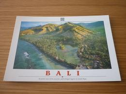 Candi Dasa Lagoon Indonesia Bali Postcard Carte Postale (palm Trees Palms) - Cartes Postales