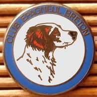 Joli Pin's Chien Club épagneul Breton, Zamac, TBQ, Pins Pin. - Animals