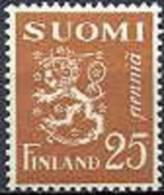 Finland 1930 25p Bruin Leeuwen Type II PF-MNH-NEUF - Neufs