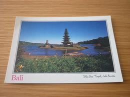 Ulun Danu Temple Lake Beratan Indonesia Bali Postcard Carte Postale - Cartes Postales