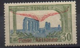 TUNISIE ( AERIEN ) Y&T N°  2  TIMBRE  NEUF  AVEC  TRACE  DE  CHARNIERE . - Tunesien (1888-1955)