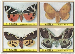Ajman 1972,issued In Bloc's Of 4 Complete Set BUTTERFLIES IMPER. Complete Set MNH-scarce- SKRILL PAY.ONLY - Ajman