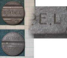 M_p> Gettone Telefonico S.T.I.P.E.L In Zama - RARO - SENZA Punto Finale Dopo La L - Monetary/Of Necessity