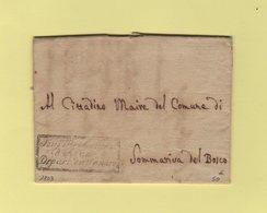 Sous Prefecture D'Albe Depart. Du Tanaro - 1803 - Franchise - Departement Conquis Du Tanaro - 1. ...-1850 Prephilately